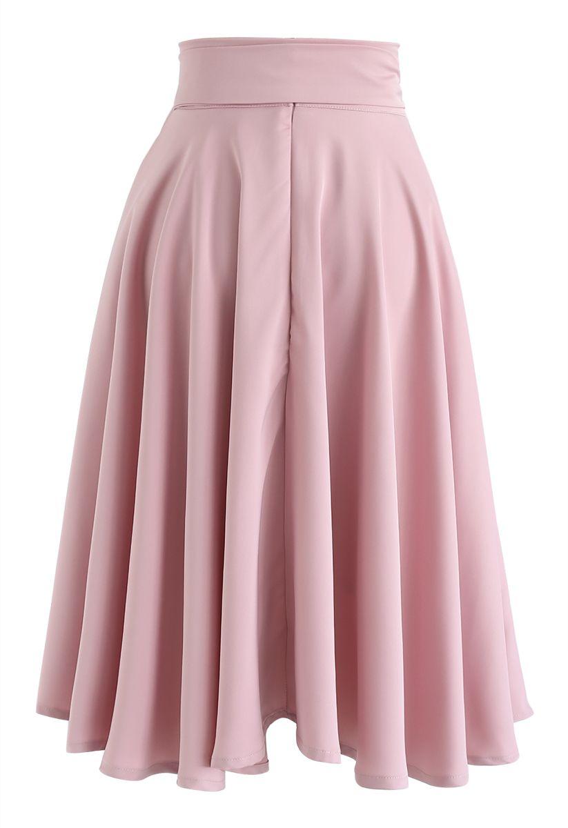 ボウノット付きウエストスカート ピンク