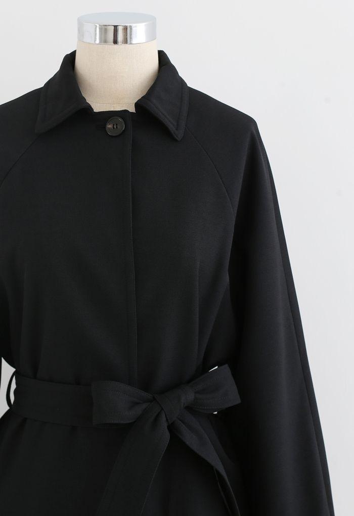 ワンボタンベルト付きポケットコート