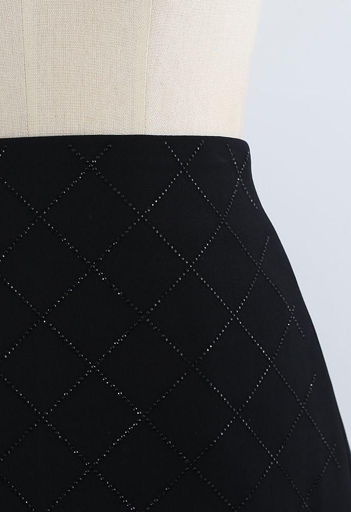ダイヤモンド柄スカート ブラック