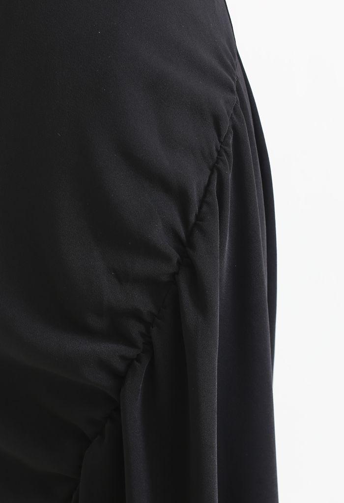 サイドギャザーアシンメトリースカート