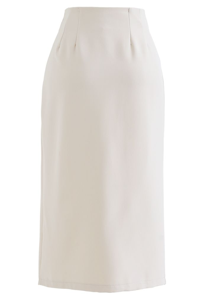 サイドスリットタイトスカート アイボリー