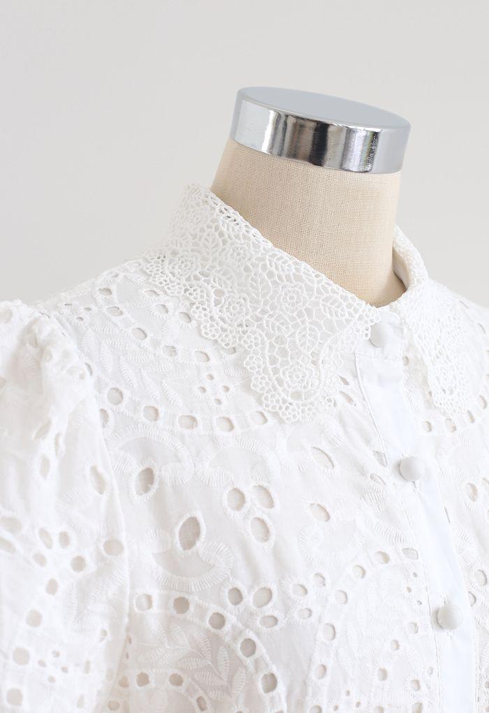 アイレット刺繍コットンワンピース