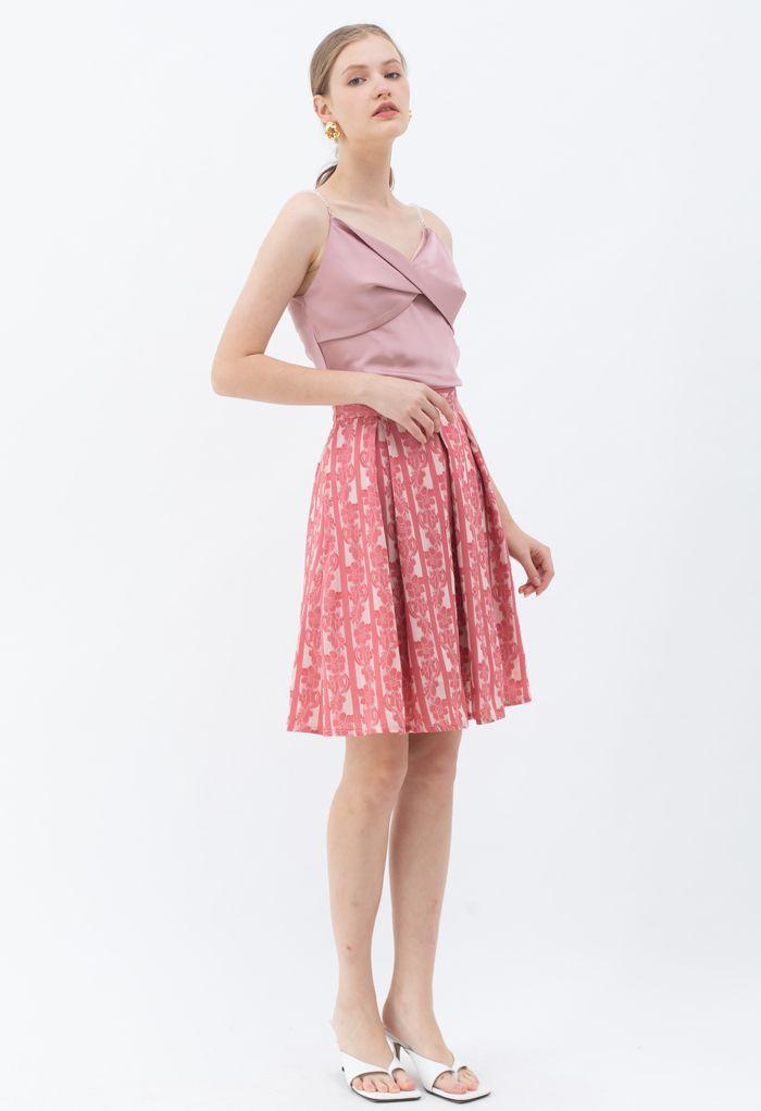 フロントツイストキャミ ピンク