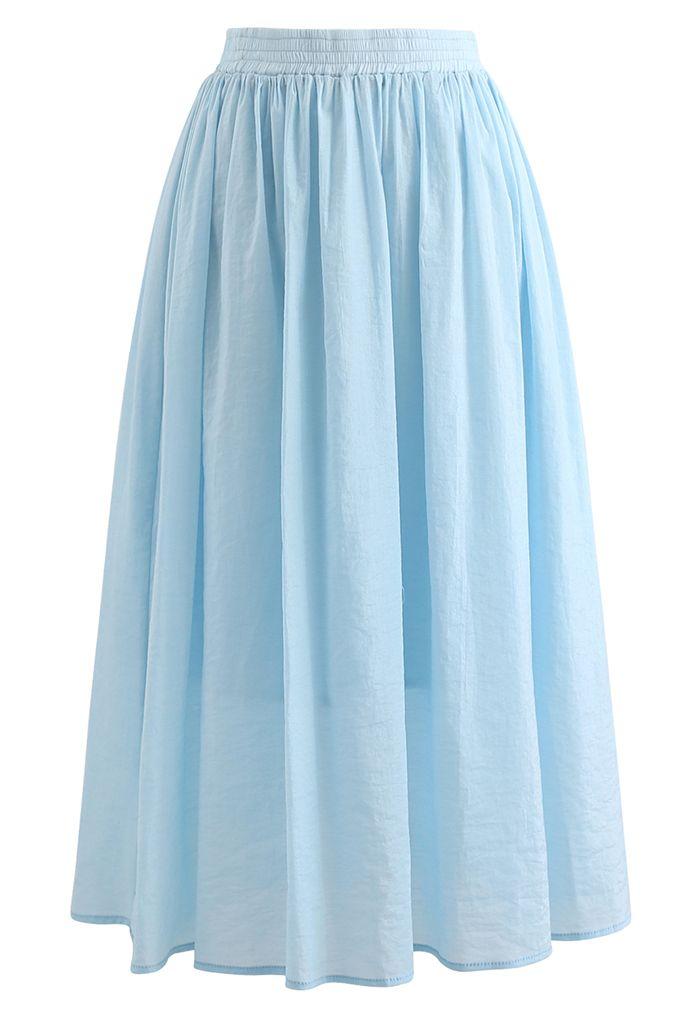 パステルカラーキャミ×スカートセット ブルー
