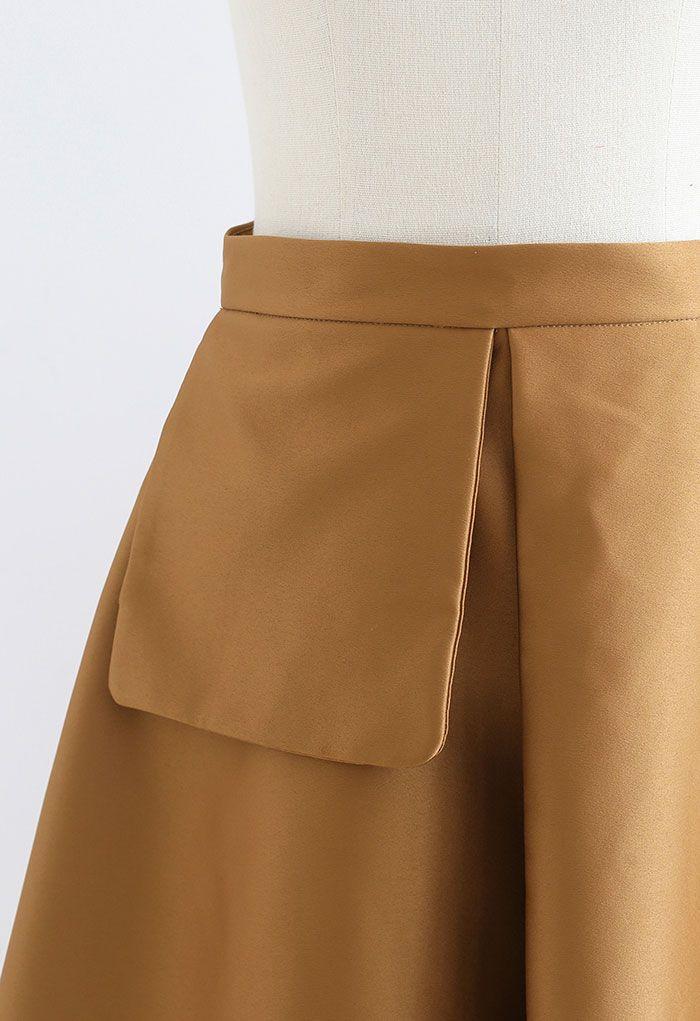 フェイクポケットフレアスカート