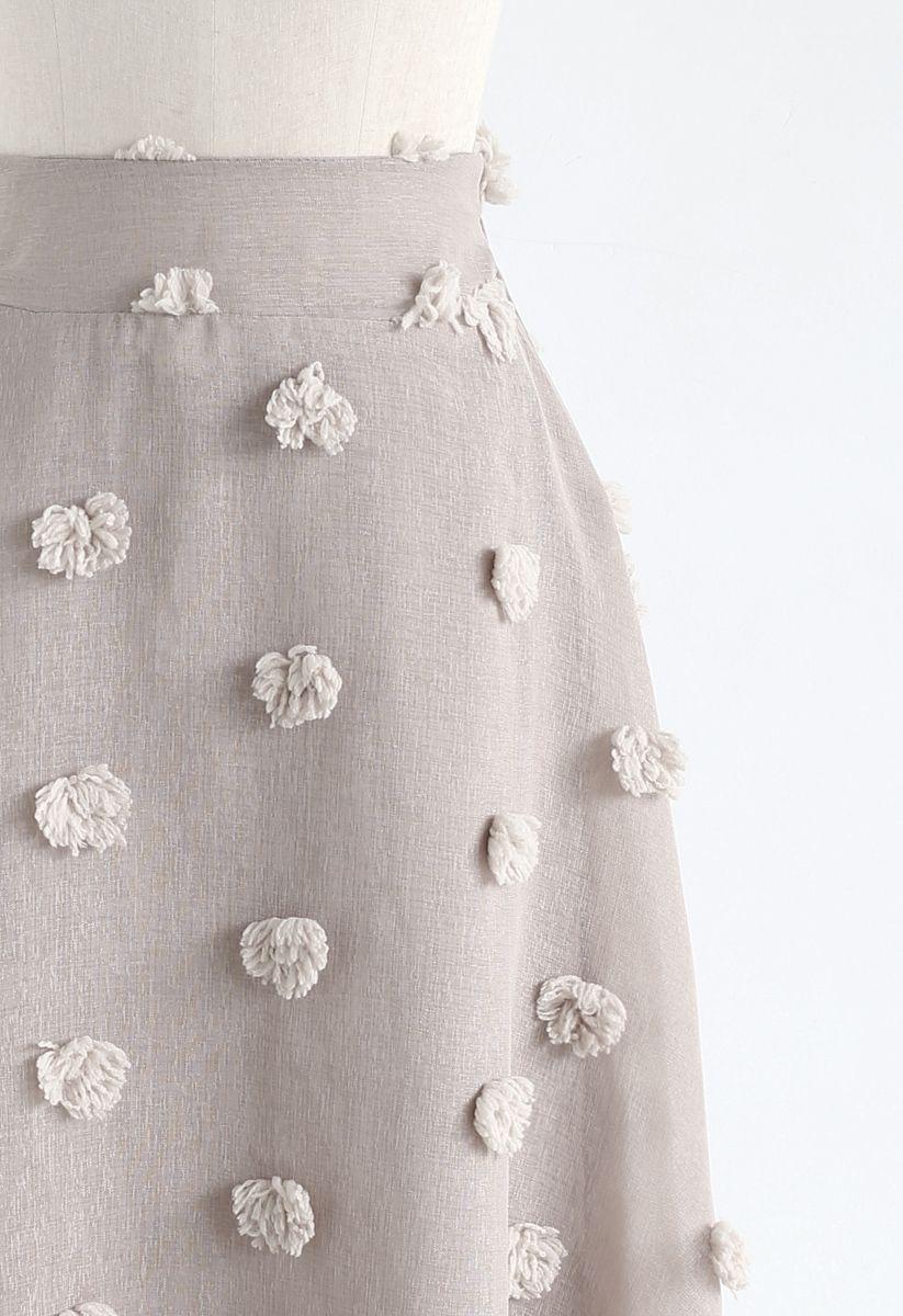 3D花付きスカート トープ