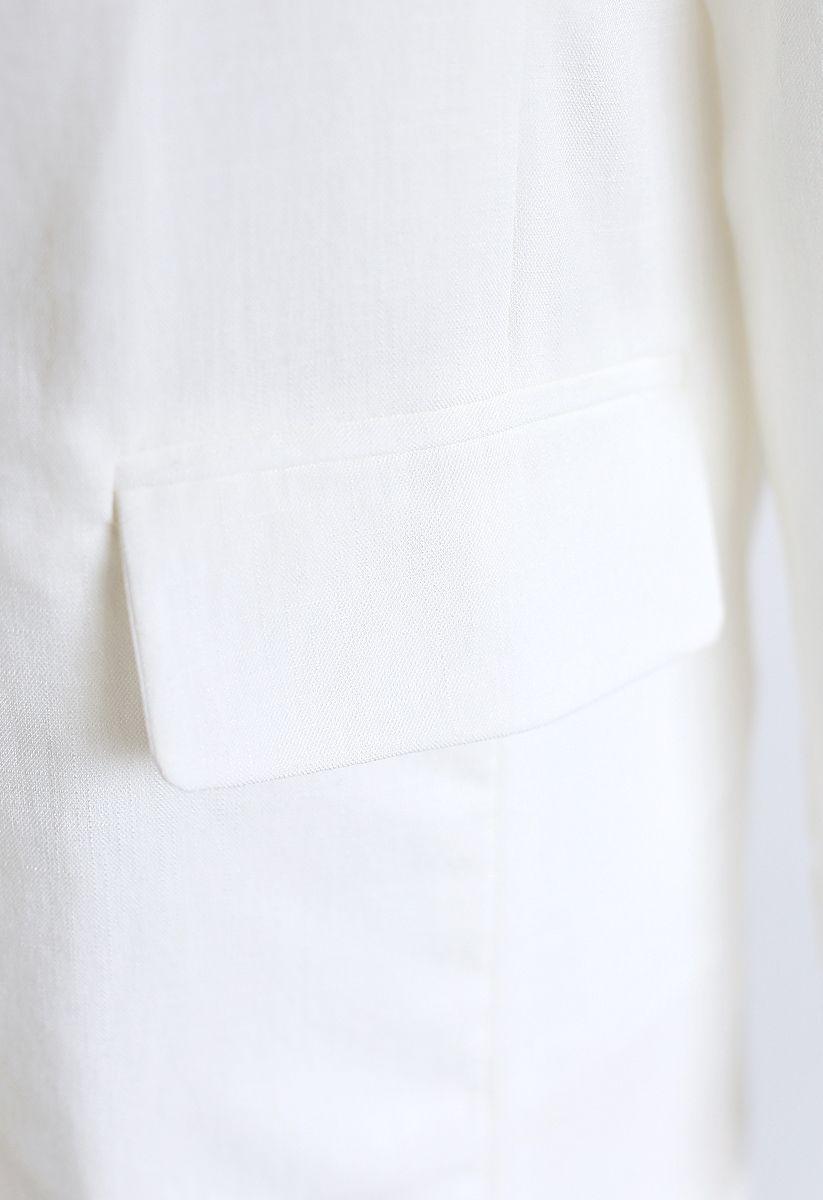 ワンボタン付きブレザー ホワイト