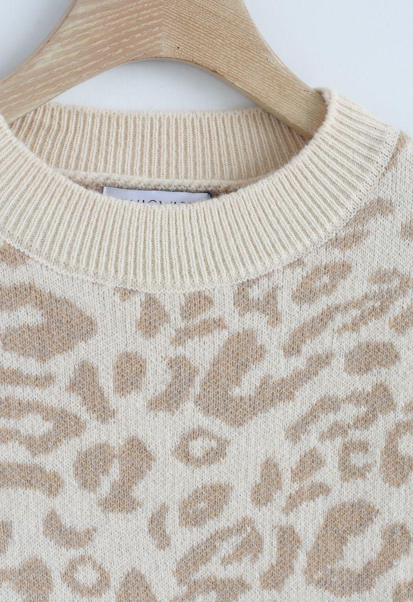 レオパード柄オーバーサイズセーター
