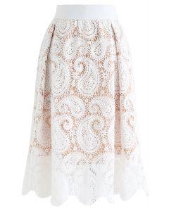 クロッシェレースAラインスカート