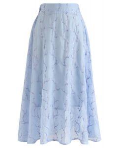 刺繍Aラインスカート