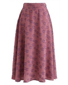 タッセルAラインスカート ベリーレッド