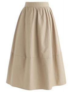無地Aラインスカート サンド