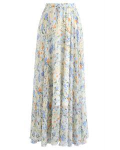 水彩シフォンマキシスカート