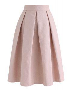 ジャカードAラインプリーツスカート