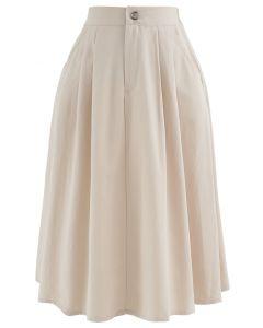 ポケットAラインスカート アイボリー
