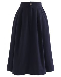 ポケットAラインスカート ネイビー