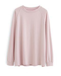 長袖スウェットシャツ ピンク