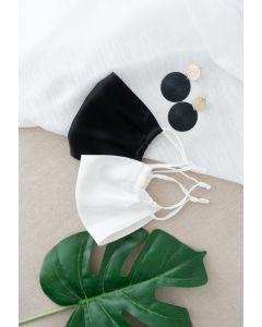 2個入りシルクマスク ブラックXホワイト