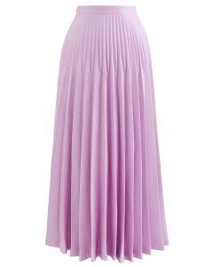 ハイウエストプリーツマキシスカート ピンク