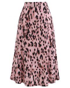 アニマルプリントフレアスカート ピンク