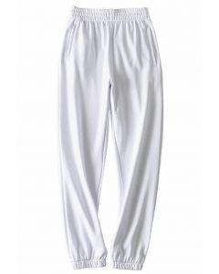 ジッパーサイドポケット付きジョガー ホワイト