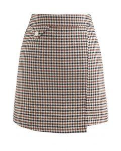 フェイクポケットラップ台形スカート