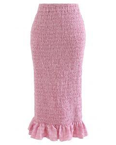 フリルヘムシャーリングスカート ピンク