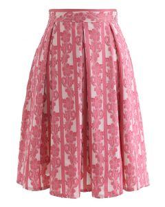 花柄ジャカードプリーツスカート