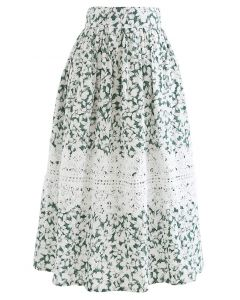 クロッシェデコ花柄スカート
