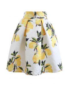 レモンジャカードプリーツスカート