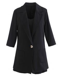 ジャケット3点セットアップ ブラック