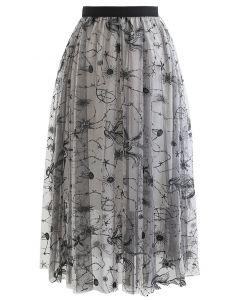 ユニコーン刺繍チュールスカート