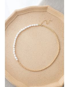 Golden Chain Beads Necklace