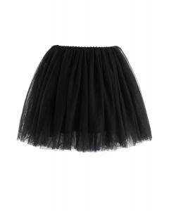 【子供服】メッシュチュールスカート ブラック