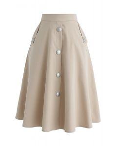 Aラインスカート サンド