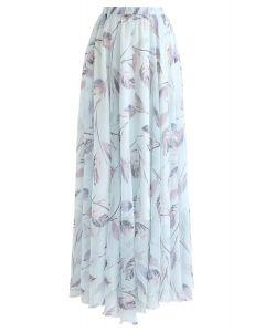 葉柄シフォンマキシスカート