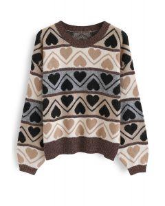 ハート柄ソフトセーター