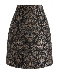 ゴールデン花柄ケジャカードスカート