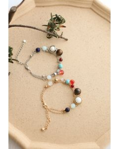Galaxy Layered Metal Beads Bracelets