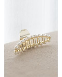 Big and Small Pearl Trimmed Hair Claw