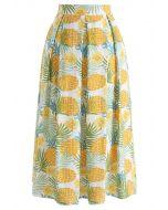 パイナップルプリントAラインスカート