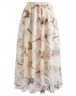 刺繍チュールスカート アイボリー