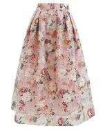 花柄オーガンザスカート